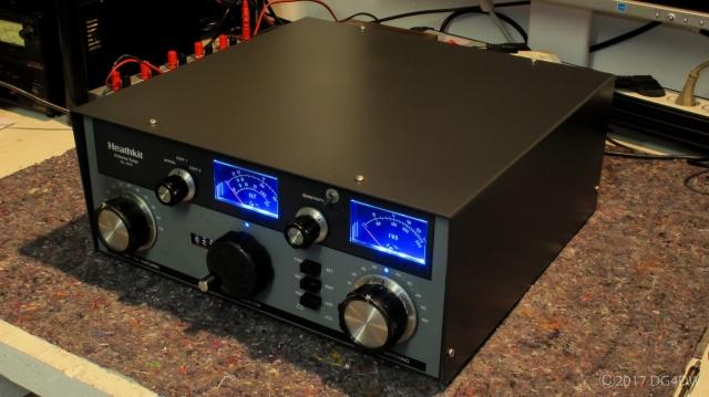 Heathkit Tuner SA - 2060, frisch lackiert und mit blauer LED Beleuchtung versehen